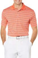 PGA Tour Men's Golf Performance Heather Stripe Polo Shirt