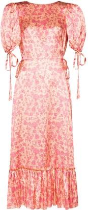 The Vampire's Wife Honey Trap floral-print silk dress