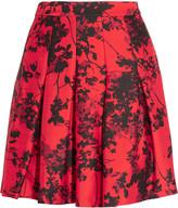 Diane von Furstenberg Gemma floral-print wool and silk-blend twill mini skirt