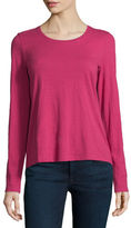 Eileen Fisher Long-Sleeve Organic Cotton Tee, Plus Size