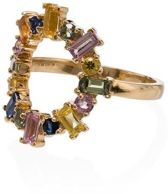 Ileana Makri 18K yellow gold Rainbow sapphire ring