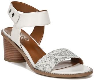 Franco Sarto Bask Snakeskin Printed Ankle Strap Sandal