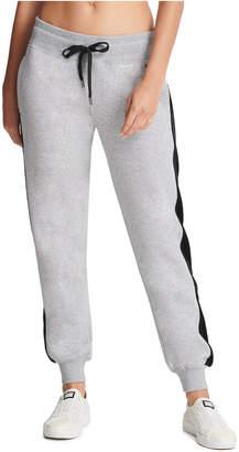 DKNY Sport Velour-Trimmed Fleece Joggers