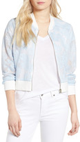 Cupcakes And Cashmere Audrie Grid Mesh Bomber Jacket