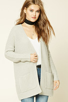 Forever 21 FOREVER 21+ Ribbed Knit Sweater Cardigan