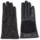 lab srl Polished Leather and Suede Gloves