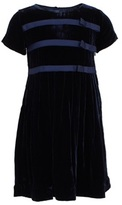 Rachel Riley Navy Velvet Dress With Ribbon Detail
