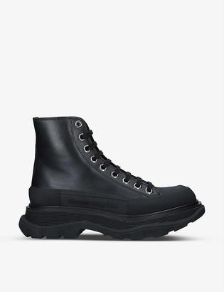 Alexander McQueen Tread Slick high-top leather boots