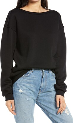 Treasure & Bond Raw Edge Sweatshirt
