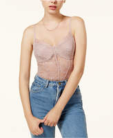 GUESS Tony Sheer Lace Bustier Bodysuit