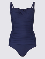 M&S Collection Secret SlimmingTM Padded Bandeau Swimsuit