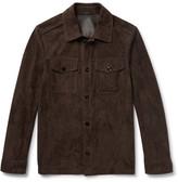 Tom Ford Suede Shirt Jacket - Dark brown