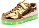 CICI LED Light Up Shoes Flashing Sneakers for Kids Boys Girls