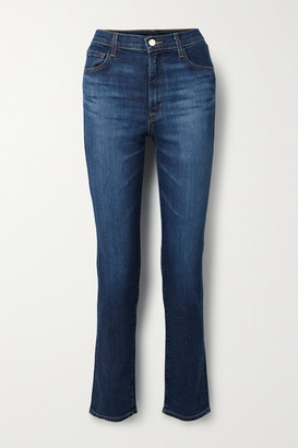 J Brand Teagan High-rise Straight-leg Jeans - Mid denim