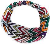 Missoni zigzag knitted hairband
