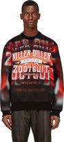 Juun.J Red & Orange Neoprene Killer Diller Sweatshirt