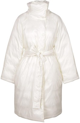 Max Mara White Women's Down Long Jacket