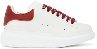 Alexander McQueen White and Red TPU Oversized Sneakers