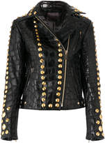 Amen textured and studded leather jacket