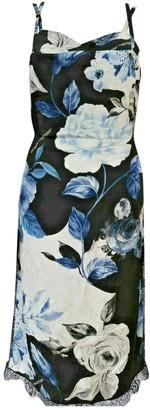 Off-White Black Silk Dresses