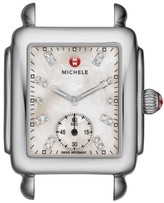 Michele Women's Deco 16 Diamond Dial Watch Head, 29Mm X 31Mm