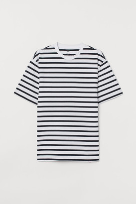 H&M Crew-neck T-shirt Loose fit - Blue