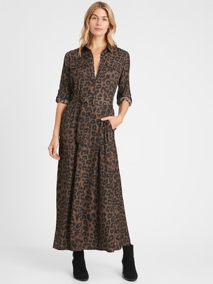 Banana Republic Utility Maxi Shirt Dress