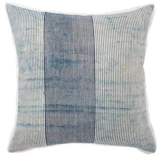Mid-Century MODERN Jaipur Living Alicia Handmade Stripe Oversize Square Throw Pillow Blue