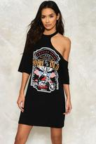 Nasty Gal nastygal Kayla Graphic Shirt Dress