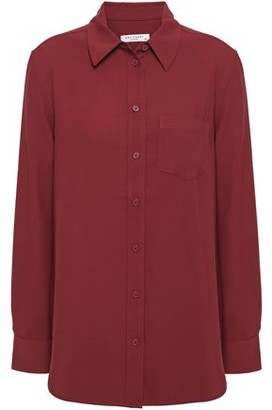 Equipment Reese Washed-crepe Shirt