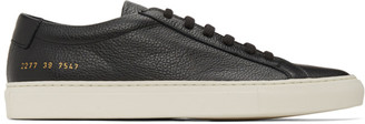 Common Projects Black Pebbled Achilles Low Sneakers
