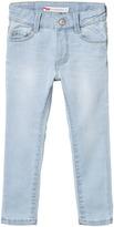 Levi's Bleached Denim 721 High Rise Super Skinny Jean
