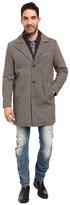 Kenneth Cole New York Wool Twill Car Coat