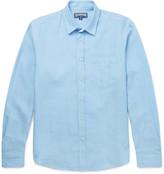 Vilebrequin Slim-fit Linen Shirt - Blue