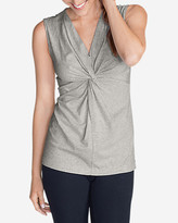 Eddie Bauer Women's Girl On The Go® Sleeveless Twist V-Neck Top