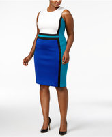Calvin Klein Plus Size Colorblocked Sheath Dress