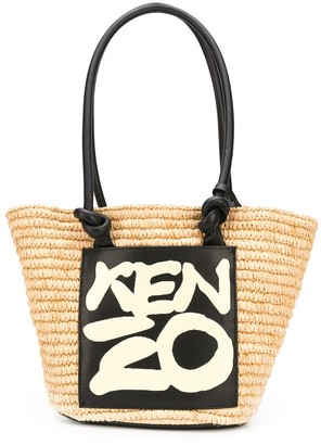 Kenzo Leather-Trimmed Tote Bag