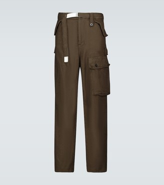 Sacai Solid Shrivel soft cargo wool pants