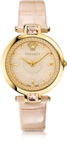 Versace Crystal Gleam Ivory Women's Watch w/Guilloché Dial and Croco Embossed Band