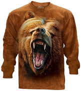 The Mountain Brown Grizzly Bear Long-Sleeve Tee - Unisex