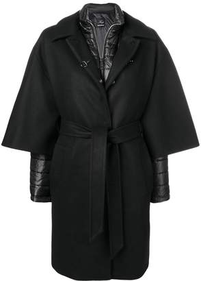 Fay Layered Single Breasted Coat