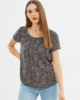 Only Woven Animal Print Top