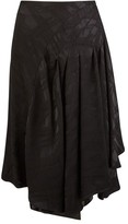 Koché Long frilled skirt