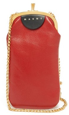 Marni Two-tone Leather Cross-body Bag - Red White
