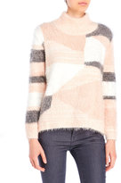 Vince Camuto Turtleneck Intarsia Eyelash Sweater