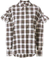 Sjyp stripe frill sleeve blouse
