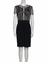 Thumbnail for your product : Blumarine Silk Knee-Length Dress Black
