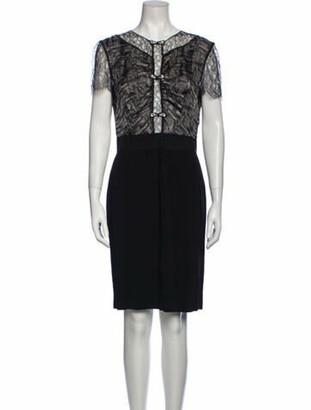 Blumarine Silk Knee-Length Dress Black
