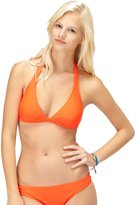 Roxy Juniors Surf Essentials 70s Halter D Cup Bikini Top-Poppy