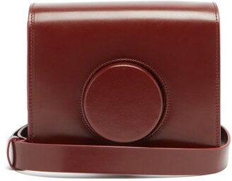 Lemaire Camera Mini Leather Cross-body Bag - Dark Red